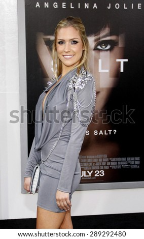 """Kristin Cavallari at the Los Angeles premiere of 'Salt"""" held at the Grauman's Chinese Theatre in Hollywood on July 19, 2010.  - stock photo"""