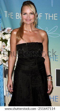 Kristin Chenoweth attends Women In Film Presents The 2007 Crystal and Lucy Awards held at the Beverly Hilton Hotel in Beverly Hills, California, California, on June 14, 2006.  - stock photo