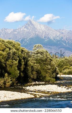 Krivan Mountain and Koprovsky brook, High Tatras, Slovakia - stock photo