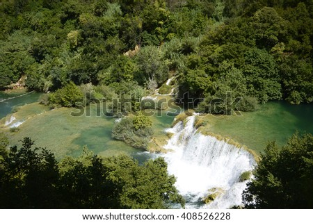 Krka national park landscape, Croatia - stock photo
