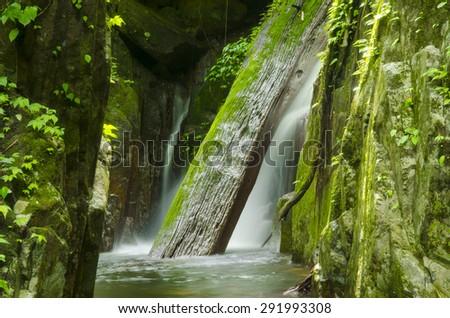 Krok I Dok waterfall in the Khao Yai National Park, Forest World heritage - stock photo