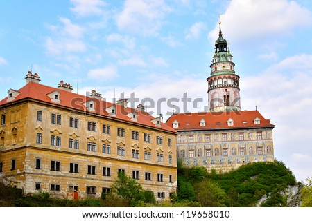 Krumlov Castle, Czech Republic - stock photo