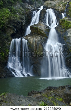 Krung ching waterfall nature form nakhonsitammarat Thailand Park,
