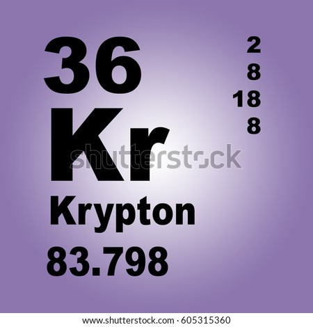 Krypton periodic table elements stock illustration 605315360 krypton periodic table of elements urtaz