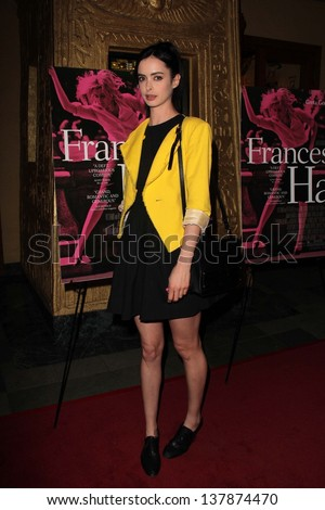 "Krysten Ritter at the ""Frances Ha"" Exclusive Screening, Vista Theater, Los Angeles, CA 05-01-13"
