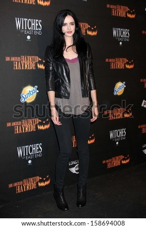 Krysten Ritter at the 8th Annual LA Haunted Hayride Premiere Night, Griffith Park, Los Angeles, CA 10-10-13