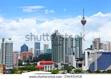 Kuala Lumpur downtown - stock photo