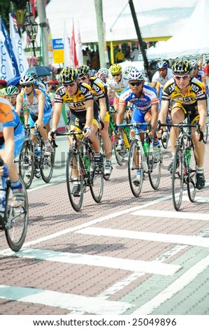 KUALA LUMPUR – FEB 15: Riders compete during Stage 7 of the Le Tour de Langkawi 2009 on February 15, 2009 in Kuala Lumpur.