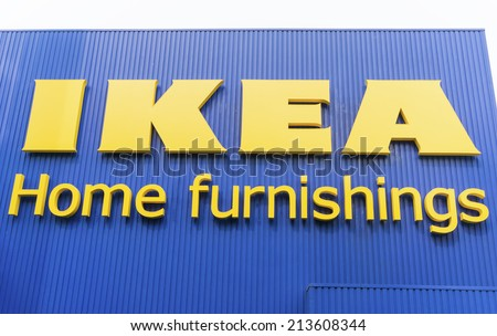 KUALA LUMPUR - JULY 26: IKEA signboard at IKEA Kuala Lumpur Store on July 26, 2014 in Kuala Lumpur, Malaysia. It is the world's largest furniture retailer. Established in 1943 by Ingvar Kamprad