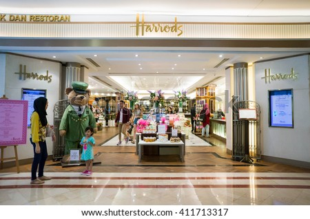 KUALA LUMPUR, MALAYSIA - April 10, 2016: A retail outlet for Harrods at Suria KLCC. Harrods is the biggest department store in Europe.