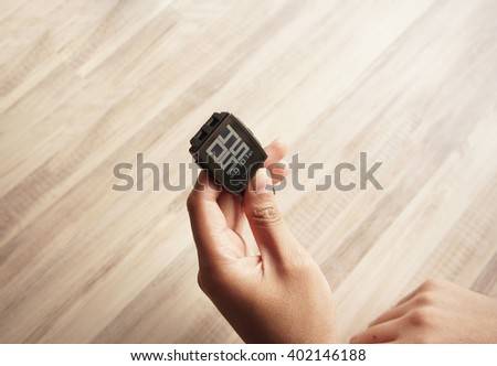 KUALA LUMPUR, MALAYSIA - APRIL 7TH, 2016: Pebble Smartwatch. Pebble is a smartwatch manufacturer headquartered in California, United States.