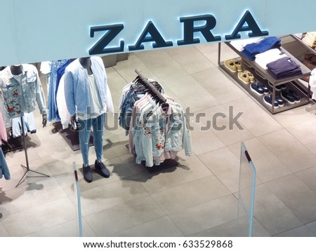 KUALA LUMPUR, MALAYSIA - APRIL 30, 2017:  Zara is a Spanish clothing and accessories retailer based in Arteixo, Galicia