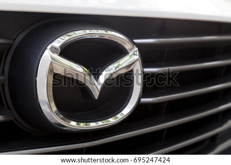 KUALA LUMPUR, MALAYSIA - August 12, 2017: Mazda Motor Corporation, or simply Mazda, is a Japanese multinational automaker based in Hiroshima Prefecture, Japan