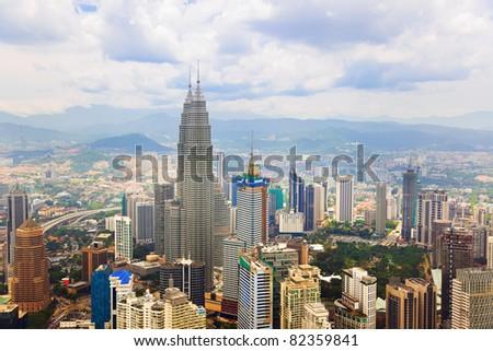 Kuala Lumpur (Malaysia) city view - architecture background - stock photo