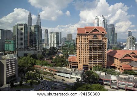 Kuala Lumpur Malaysia Daytime Urban Cityscape View - stock photo