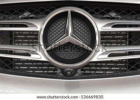 Kuala Lumpur, Malaysia 15 Dec 2016 - Logo of Mercedes Benz