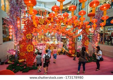 KUALA LUMPUR, MALAYSIA - JANUARY 22: chinese new year scenery in Pavilion Shopping Mall on 22 january, 2014 in Kuala Lumpur. - stock photo