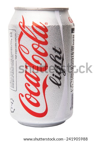 KUALA LUMPUR, MALAYSIA - JANUARY 6TH, 2015. A can of Coca ...