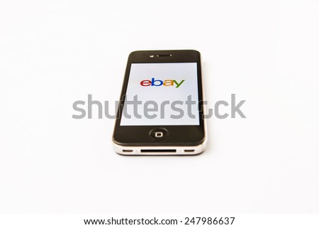 KUALA LUMPUR, MALAYSIA - JANUARY 28TH 2015. Ebay App. Founded in 1995, eBay Inc. is an American multinational and e-commerce corporation which manages eBay.com, an online auction and shopping website.