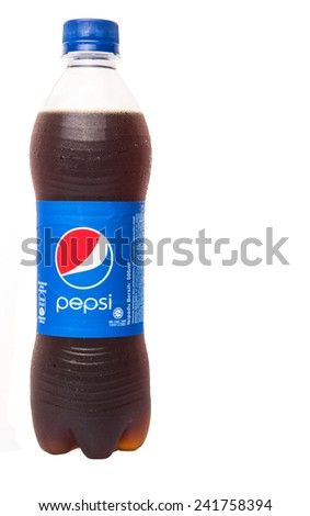 KUALA LUMPUR, MALAYSIA - JANUARY 5TH, 2015. Pepsi soft drink. Pepsi is a carbonated soft drink produced and manufactured by PepsiCo Inc. an American multinational food and beverage company.