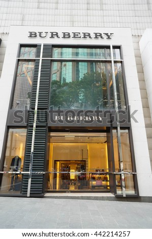KUALA LUMPUR, MALAYSIA - June 23, 2016: Burberry store in Pavilion Mall Kuala Lumpur. Burberry is a British luxury fashion house founded in 1856 by 21 year old Thomas Burberry.