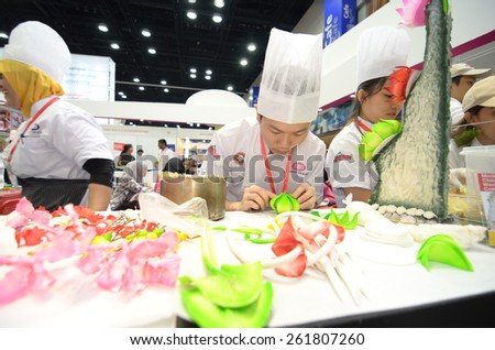 KUALA LUMPUR, MALAYSIA -MARCH 14: Malaysian Institute of Baking promote the exhibition during the Falcon Education Fair 2015 at KL Convention Centre (KLCC) free and open to the public at Kuala Lumpur. - stock photo