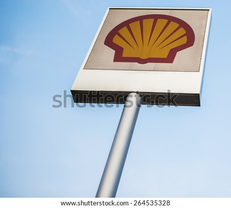 KUALA LUMPUR, MALAYSIA - MARCH 29TH 2015. Shell Oil Company is the United States-based subsidiary of Royal Dutch Shell, a multinational company and amongst the largest oil companies in the world. - stock photo