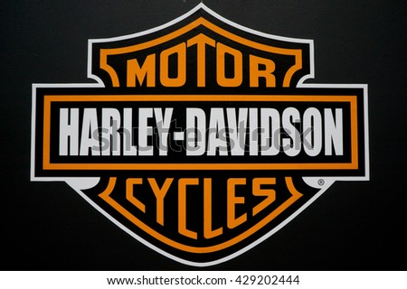 KUALA LUMPUR, MALAYSIA - MAY 29, 2016: Harley Davidson logo. Harley-Davidson, Inc. (H-D), or Harley, is an American motorcycle manufacturer, founded in Milwaukee, Wisconsin in 1903. - stock photo