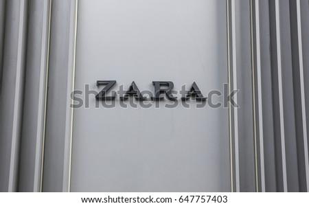 KUALA LUMPUR, MALAYSIA - MAY 24, 2017 : Logo of fashion store, Zara.