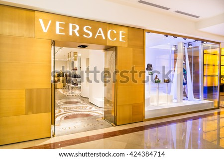 KUALA LUMPUR, MALAYSIA, May 20, 2016: The Versace outlet in KLCC, Kuala Lumpur. Versace is an Italian fashion company and trade name founded by Gianni Versace in 1978.