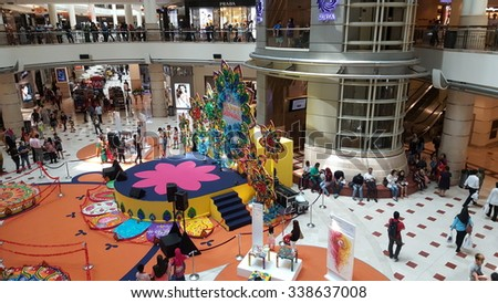 Kuala Lumpur, Malaysia - November 9, 2015 : People shopping and walked around Suria KLCC during Deepavali holiday. - stock photo