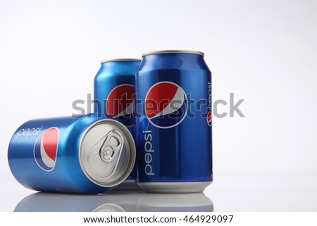 Kuala Lumpur,Malaysia,5th Aug 2016,pepsi cola can drinks,Pepsi is a carbonated soft drink produced by PepsiCo.