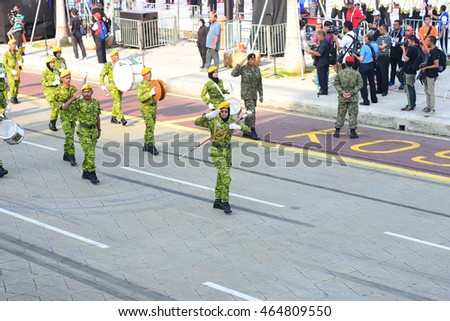 KUALA LUMPUR, MALAYSIA - 6th AUGUST 2016; Merdeka Day celebration is held in commemoration of Malaysia's Independence Day at Dataran Merdeka; one of the most colorful events celebrated annually.