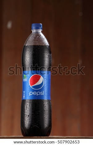 Kuala Lumpur, Malaysia 31th Oct 2016,Pepsi soft drink. Pepsi is a carbonated soft drink produced and manufactured by PepsiCo Inc. an American multinational food and beverage company.