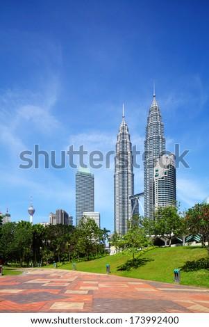 Kuala Lumpur skyline  - stock photo