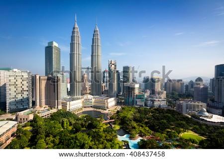 Kuala lumpur skyline, Malaysia - stock photo