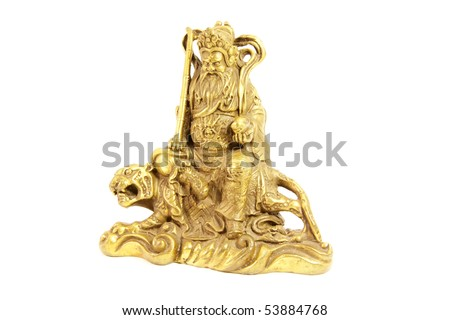 Kuan Kung the Chinese God of War and Prosperity - stock photo