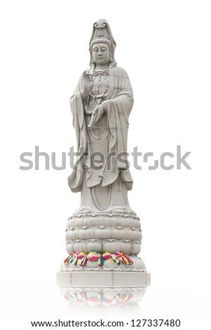 Kuan Yin image of buddha Chinese art - stock photo