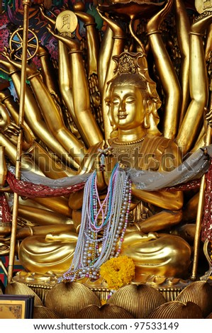Kuan Yin image of buddha with thousand hands statue