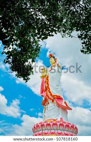 Kuan yin statue - stock photo