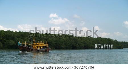 Kuantan river, Malaysia - stock photo