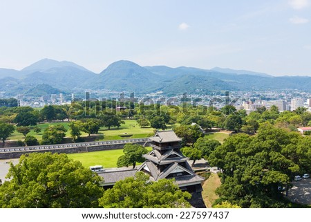 Kumamoto City is a hilltop Japanese castle, Kumamoto in Kumamoto Prefecture. It was a large and extremely well fortified castle. The castle keep is a concrete reconstruction built in 1960.
