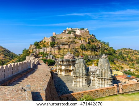 Kumbhalgarh fort, Rajasthan, India.  Kumbhalgarh is a Mewar fortress in the Rajsamand District of Rajasthan state in western India and is known world wide for its great history.