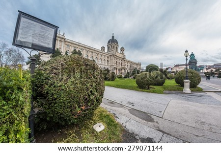 Kunsthistorisches Museum in the center of Wien, Austria - stock photo