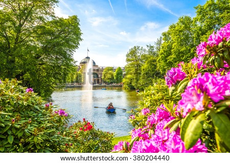 Kurpark, Wiesbaden  - stock photo