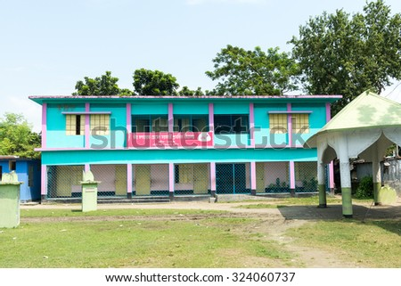 Kushtia, Bangladesh - September 28, 2015: The House of Mir Mosharraf Hossain. He was a Bengali language novelist, playwright and essayist. He is principally known for his famous novel Bishad Sindhu.
