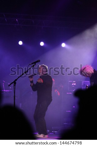 KYIV, UKRAINE - JUNE 30: Roger Taylor of Queen performs onstage during charity Anti-AIDS concert at the Independence Square on June 30, 2012 in Kyiv, Ukraine