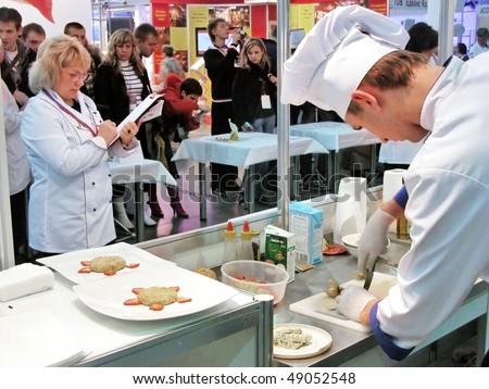 KYIV, UKRAINE - NOV 11: the International festival of art of cookery on November 11, 2006 in Kyiv, Ukraine - stock photo