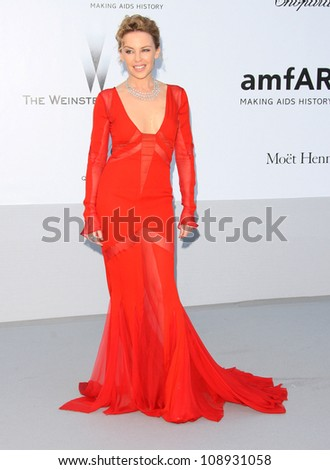 Kylie Minogue arriving for AmfAR's Cinema Against Aids gala 2012 during the 65th annual Cannes Film Festival Cannes, France. 24/05/2012 Picture by: Henry Harris / Featureflash - stock photo