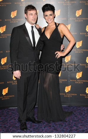 Kym Marsh and Jamie Lomas arriving for the RTS Awards 2013, at The Grosvenor House Hotel, London. 19/03/2013 Picture by: Alexandra Glen